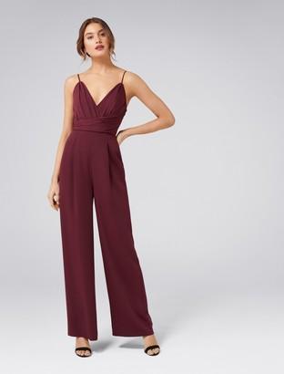 Forever New Charlie Drape Bodice Jumpsuit - Red Shiraz - 8