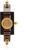 Gucci Stud-embellished Plexiglas watch