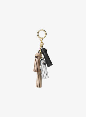MICHAEL Michael Kors Leather Mini Tassel Key Chain