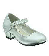 Pierre Dumas Silver Raisa Ankle-Strap Shoe - Kids