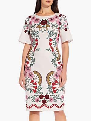 Adrianna Papell Folkloric Beauty Floral Dress, Pink