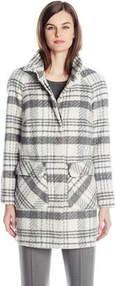 Fleet Street Ltd. Women's Plaid Wool Coat