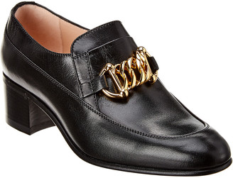 Gucci Horsebit Chain Leather Loafer