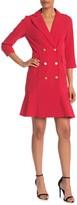Nanette Lepore Nanette Double Breasted Flounce Hem Dress