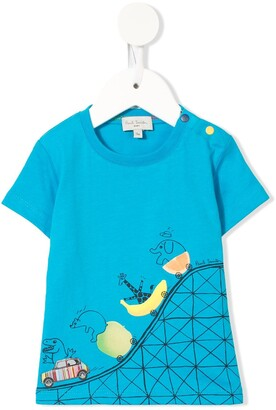Paul Smith Rollercoaster graphic print T-shirt