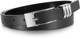 Forzieri Skinny Black Leather Belt