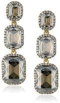 Cara Swarovski Crystal Three Silver Shadow Stud Earrings