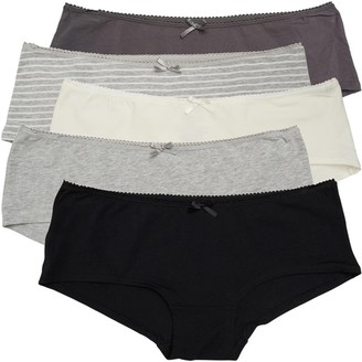 S.O.H.O New York Womens Five Pack Short Briefs Grey