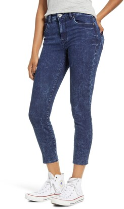 STS Blue Ellie Acid Wash High Waist Crop Skinny Jeans
