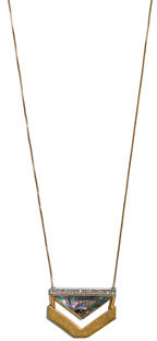 Madewell Seastone Arrow Necklace