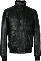 Lanvin standing collar biker jacket - men - Leather - 52