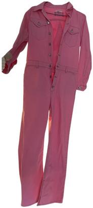 Ganni Pink Cotton Jumpsuits