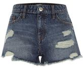 River Island Womens Mid blue ripped denim shorts