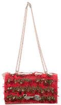 Valentino Embellished Feathered Bag