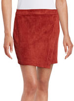 Design Lab Lord & Taylor Asymmetrical Suedette Skirt