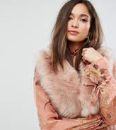 My Accessories Faux Fur Pink Oversized Collar