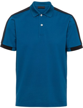 Prada Woven Tape Polo Shirt