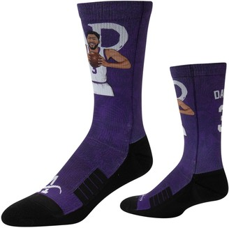 Men's Strideline Anthony Davis Los Angeles Lakers Comfy Full Sublimated Player Crew Socks