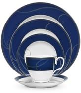 Noritake Platinum Wave Indigo Porcelain 5-Pc. Place Setting
