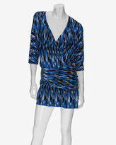 Thakoon Ikat Print Wrap Around Hip Dress
