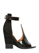 Givenchy 100mm Brushed Calf Suede Cut Out Pumps
