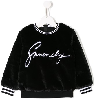 Givenchy Kids Faux Fur Sweatshirt