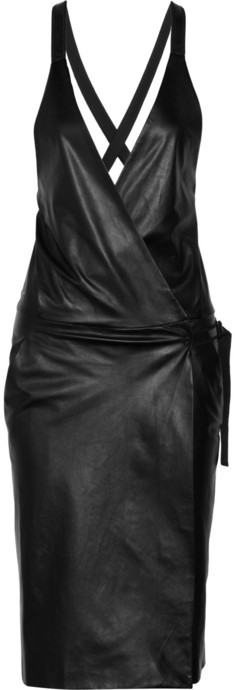 Proenza Schouler Leather wrap dress