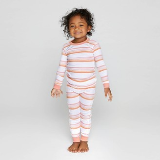 Burt's Bees Baby Toddler Girls' Melted Striped Organic Cotton Pajama Set -