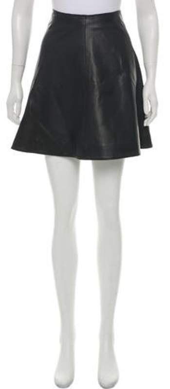 197767e8 Chloé Leather Mini Skirt Black Chloé Leather Mini Skirt