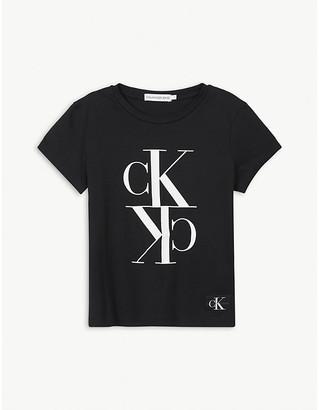 Calvin Klein Jeans CK logo-print cotton T-shirt 4-16 years