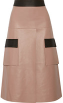 Dion Lee Two-tone Leather Skirt - Antique rose
