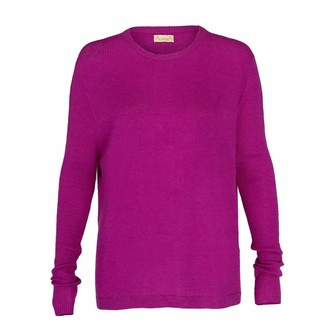 Asneh Beverly Purple Cashmere Sweater With Rib Details