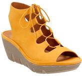 Clarks Artisan Artisan Clarene Glamor Suede Wedge Sandals