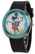 Disney MCK1053 Mickey Mouse Women's 4 Changeble Bezel Black Rubber Strap Watch