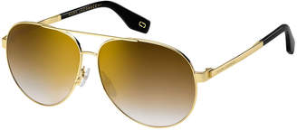 Marc Jacobs Mirrored Metal Aviator Sunglasses