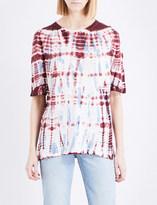 Sandro Tie-dye linen-jersey T-shirt