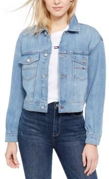 Tommy Jeans Cropped Denim Trucker Jacket