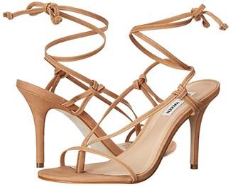 Steve Madden Status Heeled Sandal (Natural Nubuck) Women's Shoes