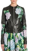 Dolce & Gabbana Painted Leather Biker Jacket
