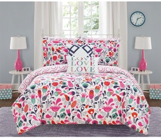 Chic Home Audley 7 Piece Reversible Colorful Floral Comforter Set
