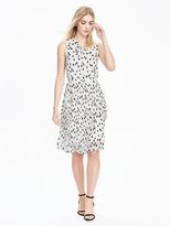 Banana Republic Pleated Dot-Print Dress