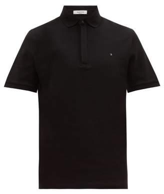 Valentino Rockstud Cotton Polo Shirt - Mens - Black