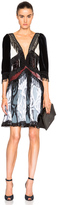 Rodarte Paisley Silk Velvet Dress