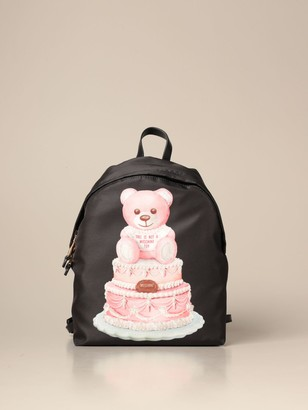 Moschino Nylon Backpack With Teddy Cake