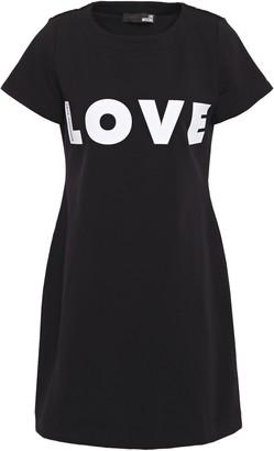 Love Moschino Printed Stretch-cotton Fleece Mini Dress