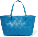 Bottega Veneta Shopper Medium Intrecciato Leather Tote - Blue
