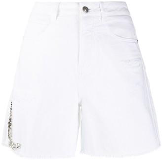 Ermanno Scervino High-Waisted Frayed Edge Shorts