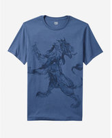 Express water lion graphic tee