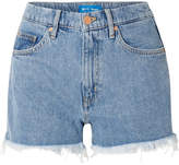 MiH Jeans Halsy Cut-off Denim Shorts - Mid denim