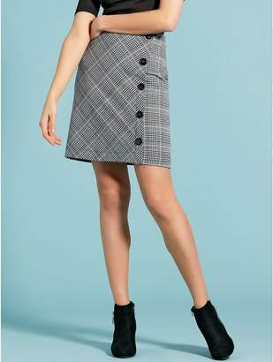 M&Co Checked wrap skirt